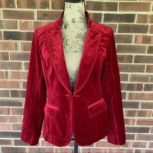 NWT WHBM red velvet blazer jacket